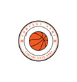 vintage retro basketball sport team club badge vector image