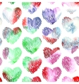 Watercolor hearts seamless pattern on white vector image vector image