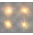 white sparks glitter special light effect vector image vector image