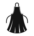 woman apron icon simple style vector image
