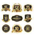 years anniversary label gold and black vector image