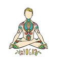 yoga man ornament beautiful concept meditation
