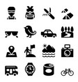 discovery traveling camping adventure icons vector image
