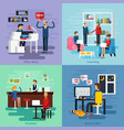 working character composition set vector image