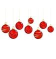 Christmas red balls vector image