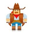 cowboy origami toy vector image