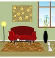 Interior living room vector image