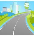 02 Road landscape vector image vector image