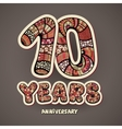 10 years anniversary vector image vector image