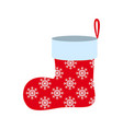 a christmas of sock icon in color vector image vector image