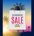 abstract summer sale background with palm leave vector image vector image