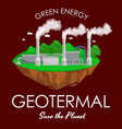 alternative energy power industry geotermal power vector image