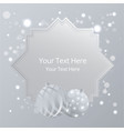 beautiful cover template for christmas card vector image vector image