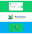 beautiful scale logo and business card vertical vector image