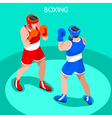 Boxing 2016 Summer Games 3D Isometric vector image vector image
