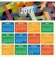 Calendar 2016 year vector image