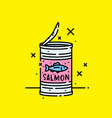 canned salmon fish icon vector image