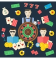 Casino flat vector image vector image