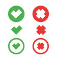 check mark set vector image vector image
