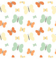 colorful butterflies seamless pattern vector image vector image