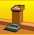 corruption metaphor in politics pop art vector image vector image