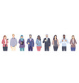 diverse people male and female characters vector image