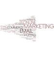 e-marketing word cloud concept vector image vector image