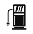 electric recharge station icon simple style vector image