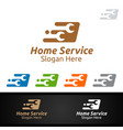 fast real estate and fix home repair services logo vector image vector image