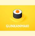 gunkanmaki isometric icon isolated on color