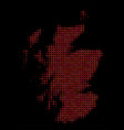 halftone red scotland map vector image