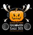 halloween sale background vector image vector image