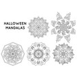 halloween theme mandala vector image