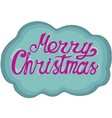 hand-drawn lettering for christmas doodle style vector image vector image