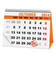 holiday calendar Halloween vector image vector image