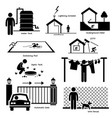 home house outdoor structure infrastructure and vector image vector image
