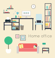 Home office Furniture and Accessories vector image