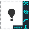 hot air balloon icon flat vector image