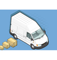 Isometric White Van in front view vector image vector image