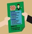 Job Finder Advertisement on Leaflet vector image vector image