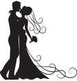 kissing groom and bride vector image vector image