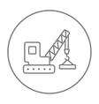 Lifting crane line icon vector image