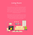 living room modern house decoration color banner vector image vector image