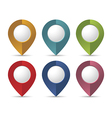 Location pointers vector image vector image