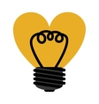 love bulb light vector image vector image