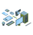 modern devices isometric 3d vector image