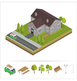 Modern House Modern Home Isometric Cottage vector image vector image