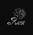 outline logo with rose vector image vector image