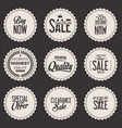 retro sale stickers collection vector image vector image