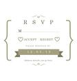 RSVP Wedding card gold ribbon theme vector image vector image